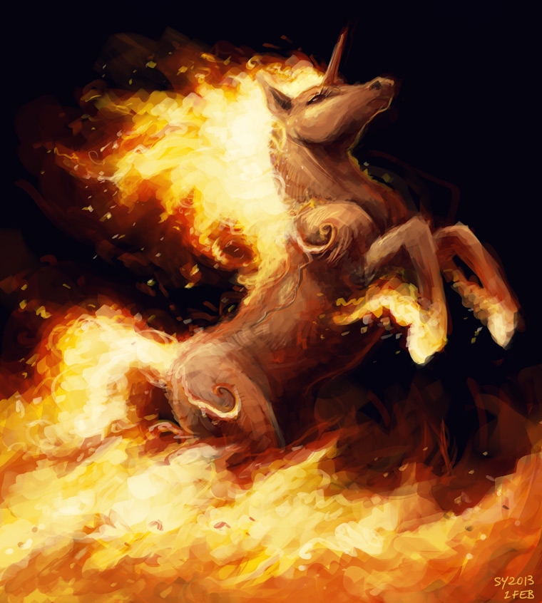 day 32 rapidash drawing space